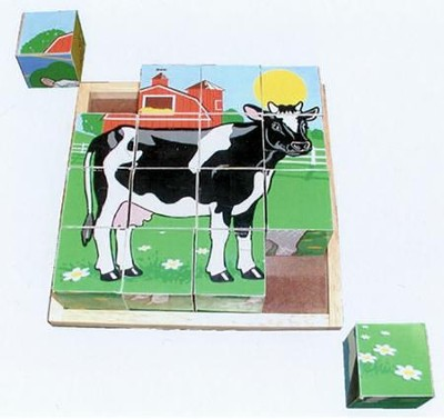 Farm Cube Puzzle   -     By: Melissa & Doug