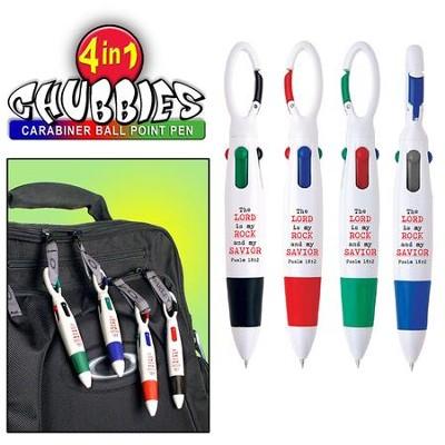 chunkie carabiner 4colorink pen