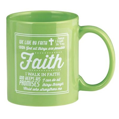 Faith Mug, Green  -