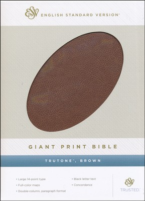 ESV Giant Print Bible TruTone, Brown  -