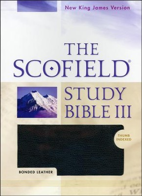 NKJV Scofield Study Bible III, Bonded leather, black, indexed   -