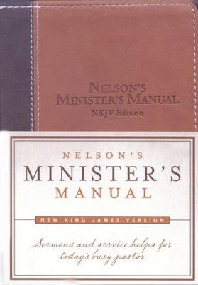 NKJV Nelson's Minister's Manual, Imitation leather, brown/tan  -