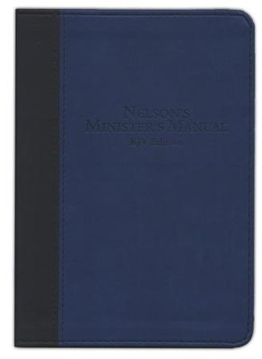 KJV Nelson's Minister's Manual, Imitation leather, black/blue  -