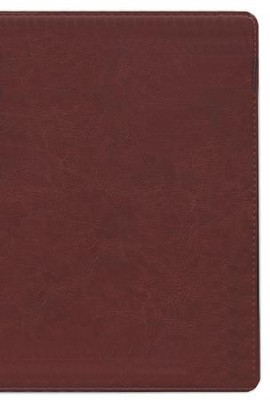 KJV Scofield Study Bible Genuine Leather, Burgundy  with Thumb-Index  - Slightly Imperfect  -