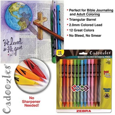 Cadoozles Mechanical Colored Pencils, Zebra, Pack of 12  -