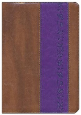 ESV Study Bible, TruTone, Brown/Purple with Iris Design  -