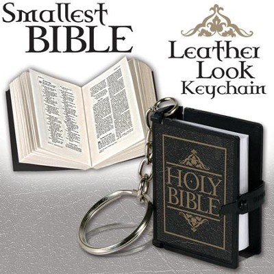 Smallest Bible Keychain, Black  -