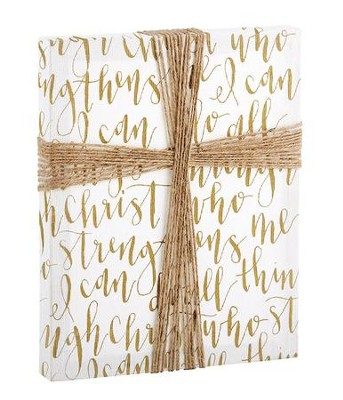 I Can Do All Things, Philippians 4:13, Cross Wall Art  -     By: Unika Collections