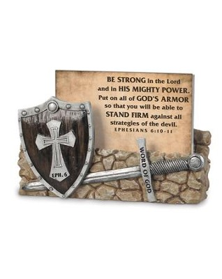 Word of God, Armor of God Scripture Card Holder, with 30 Cards, Ephesians 6  -