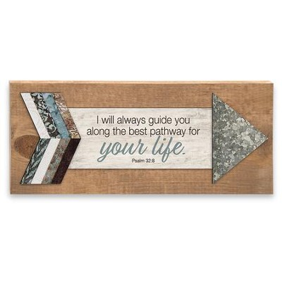 I Will Always Guide You, Psalm 32:8, Plaque  -