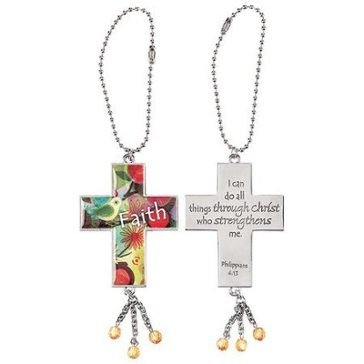 Dicksons Names of Jesus He Shall Be Called 8 Inch Metal Auto Mirror Hanging Car Charm