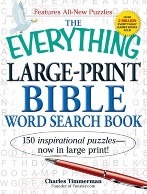 The Everything Large-Print Bible Word Search Book   -