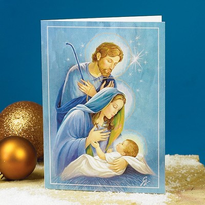 Holy Family Christmas Cards, Package of 25  -