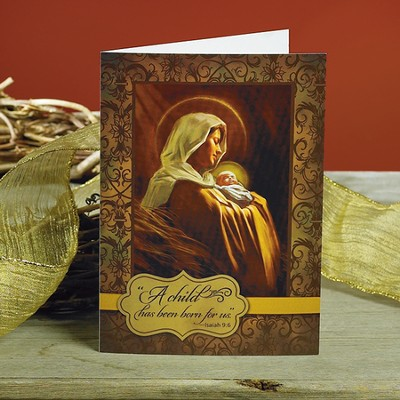 Madonna and Child Christmas Cards, Package of 25  -