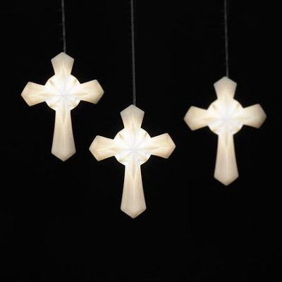 Cross LED Ornament  -