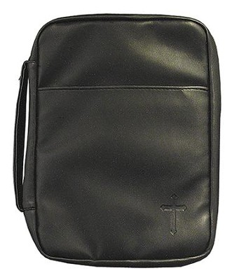 Cross Bible Cover, Black, X-Large  -