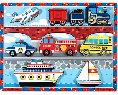 Vehicles Chunky Puzzle   -     By: Melissa & Doug