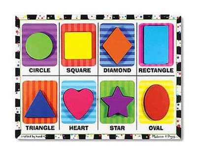 Shapes Chunky Puzzle   -     By: Melissa & Doug