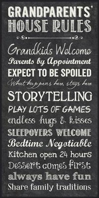Grandparents House Rules, Chalkboard Wall Art           -