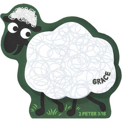 Grace, Lamb Magnetic Sticky Notes  -