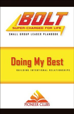 BOLT Doing My Best: Small Group Planbook  -