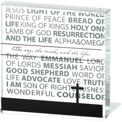 Names of Jesus Glass Block  -