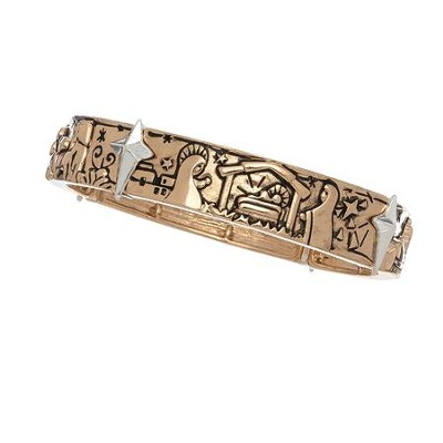 Nativity Stretch Bracelet, Two-Tone  -