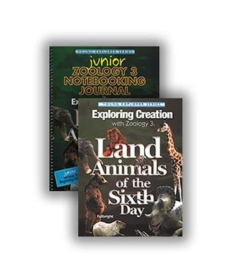 Exploring Creation with Zoology 3: Land Animals of the  Sixth Day Advantage Set (Junior Notebooking Journal)  -     By: Jeannie Fulbright