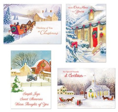 Nostalgic Christmas Assorted Cards, Box of 24  -