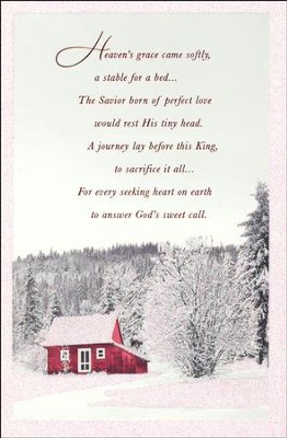 Heaven's Grace Came Softly Cards, Box of 18  -