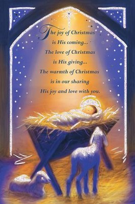 The Joy Of Christmas Is His Coming Cards, Box of 18  -