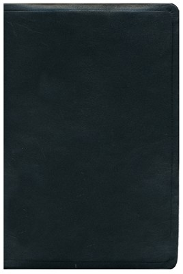 ESV Single Column Heritage Bible--calfskin leather, black  -