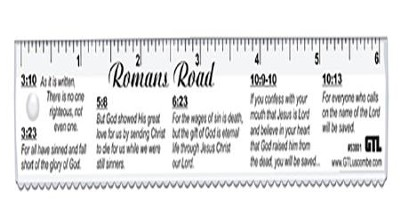 Romans' Road, Bible Study Ruler, Clear  -