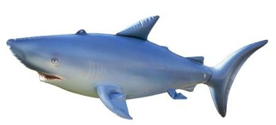 Shark Inflatable Lifelike Animal, 84 Long   -