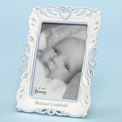 Beloved Godchild Photo Frame, Blue  -