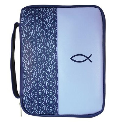 Multiple Fish Bible Cover, Blue