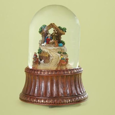 Nativity, Rotating Musical Glitter Dome  -