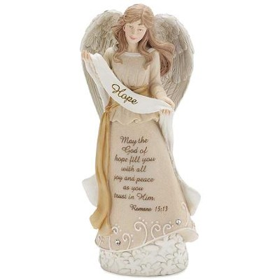 Hope Banner Angel Figurine  -