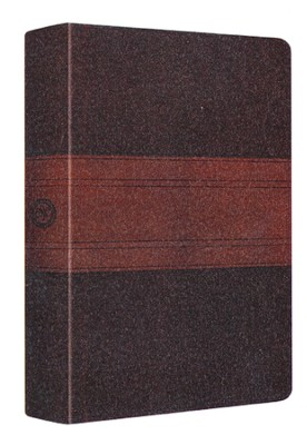ESV MacArthur Study Bible, Personal Size, TruTone, Chocolate/Walnut, Trail Design  -