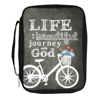 Life Is A Beautiful Journey With God Bible Cover, Medium  -