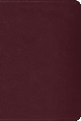 ESV Gospel Transformation Bible--genuine leather, burgundy   -