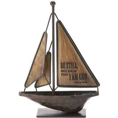 Be Still and Know Sailboat, Small  -