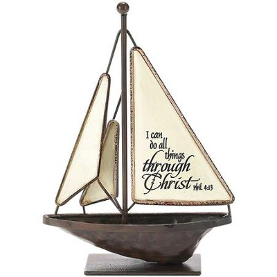I Can Do All Things Through Christ Sailboat, Small  -