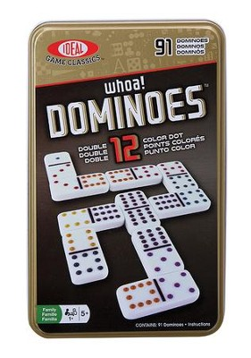 Double 12 Dominoes in a Tin  -