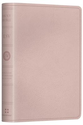 ESV Pocket New Testament with Psalms and Proverbs--soft leather-look, pink  -