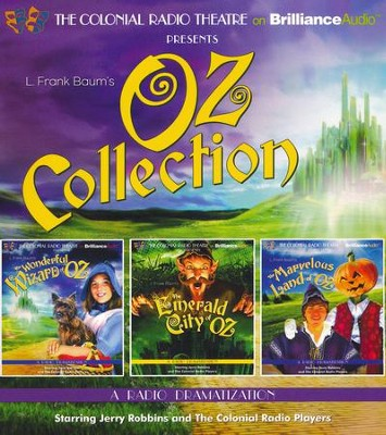 Oz Collection: The Wonderful Wizard of Oz, The Emerald City of Oz, The Marvelous Land of Oz - unabridged audiobook on CD  -     Narrated By: Jerry Robbins     By: L. Frank Baum