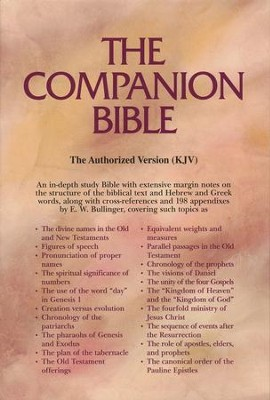 KJV Companion Bible, Bonded leather, black   -