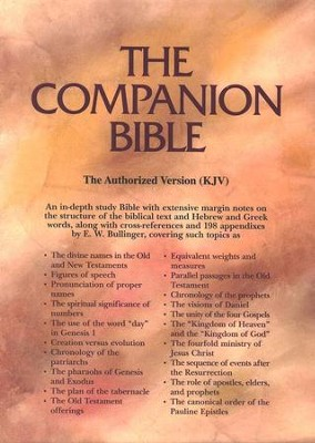 KJV Companion Bible, Bonded leather, Burgundy, Thumb-Indexed   -     Edited By: E.W. Bullinger