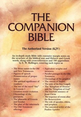 KJV Companion Bible, genuine leather, black, thumb-indexed   -