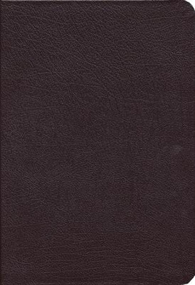 NKJV Study Bible- Large Print Edition, Burgundy Bonded  Leather Thumb-Indexed - Slightly Imperfect  -